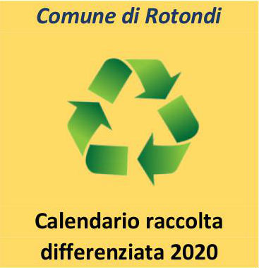 Calendario raccolta differenziata 2020